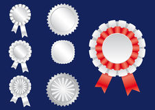 Ribbon white. 7 different ribbons in  format Royalty Free Stock Photos