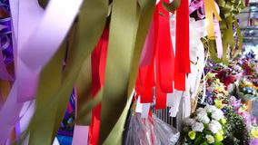 Ribbon in the wind stock footage