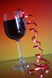 Ribbon and wine Stock Images
