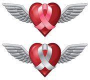 Ribbon With Wings and Heart Stock Image