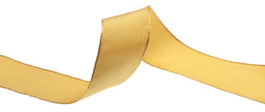Ribbon yellow. On white background Royalty Free Stock Images