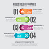 Ribbonhole Infographic Royalty Free Stock Photo