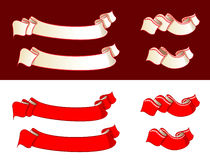 Ribbons. Vector illustration of ribbons different colors vector illustration
