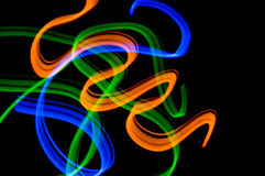 Ribbons 2. Some colrful LED lights in motion resembling ribbons Royalty Free Stock Photos