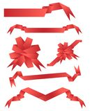 Ribbons. Vector illustration of red ribbon banners Stock Photography
