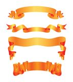 Ribbons. Vector illustration of ribbon banners Stock Images