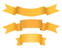 Ribbons. On a white background Royalty Free Stock Images