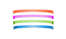 Ribbons. Colorful Ribbons for Web Menu Bar Design Isolated on White Background Stock Images
