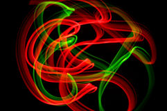 Ribbons 3. Some colorful LED lights in motion resembling ribbons Royalty Free Stock Photo