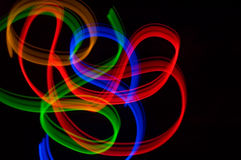 Ribbons 5. Some colrful LED lights in motion resembling ribbons Stock Photos