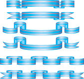 Ribbons. Collection of vector banners in different shape Stock Images