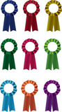 Ribbons. Illustration of different coloured ribbons isolated on white Royalty Free Stock Photos
