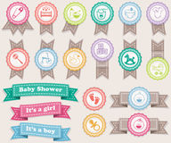 Ribbons About Babies Royalty Free Stock Image