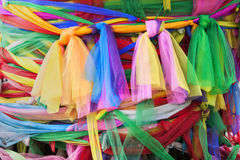 Ribbons. Around a sacred Bodhi tree, Bangkok, Thailand Stock Image