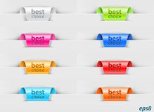 Ribbons as labels Royalty Free Stock Photo