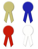Ribbons - Awards - Clip Art with Working Paths Royalty Free Stock Photos