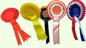 Ribbons. Awards. rosettes Stock Image