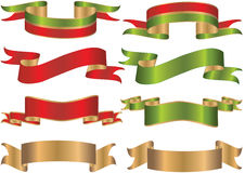 Ribbons or banners. Detailed ribbons or banners with realistic 3d shading royalty free illustration