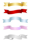 Ribbons, banners collection. S isolated on white Royalty Free Stock Image