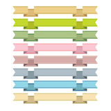 Ribbons and banners  Royalty Free Stock Photography