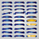 Ribbons banners in retro style vector Royalty Free Stock Photography