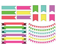 Ribbons and Banners Royalty Free Stock Photos