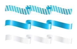 Ribbons in bavarian colors stock illustration