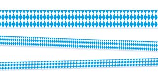 Ribbons in bavarian colors blue and white stock illustration
