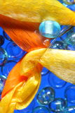 Ribbons and beads Stock Photos