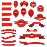Ribbons big  set. Royalty Free Stock Images