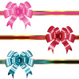 Ribbons with bows Royalty Free Stock Image