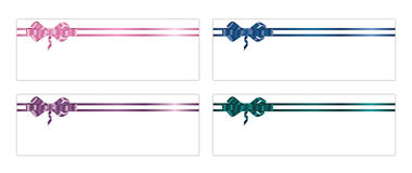 Ribbons and bows 3-1 Royalty Free Stock Photos