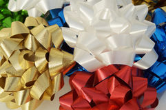 Ribbons and bows. Gift wrap decorations Stock Photography