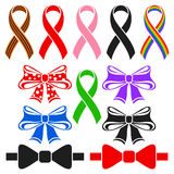 Ribbons and bows Royalty Free Stock Photography