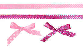Ribbons and bows dots of them Royalty Free Stock Photography