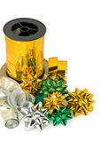 Ribbons and bows for gift Royalty Free Stock Images