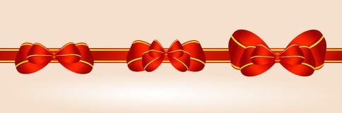 Ribbons with bows Stock Images
