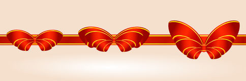 Ribbons with bows Royalty Free Stock Photo