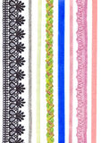 Ribbons and braid. Stock Photos