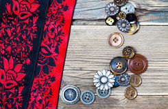 Ribbons and buttons Royalty Free Stock Images