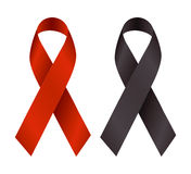 Ribbons for cause. This ribbons are symbolize some cause behind their color eg. HIV AIDS etc Stock Images