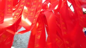 Ribbons in China Town. Celebrative ribbons in China Town