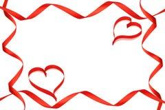 Ribbons cl 2 hearts 2 Stock Photos