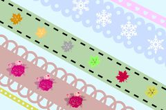 Ribbons: Classic, Seasonal, Vintage & Misc. Stock Image