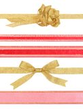 Ribbons with clipping paths Stock Photography