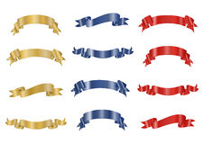 Ribbons collection Stock Photography