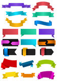 Ribbons collection. Illustration of colorful ribbons in various styles Stock Photography