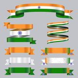 Ribbons collection India flag colors royalty free illustration