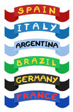 Ribbons countries Stock Photos
