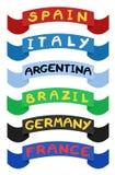 Ribbons countries Stock Photos